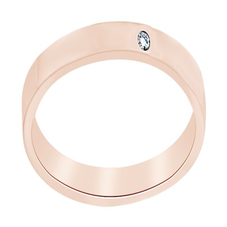 White Natural Diamond Comfort Fit Engagement Band Ring In 14K Solid Rose Gold (0.02 Ct), Ring Size-4 By Jewel Zone - Solid Jewel