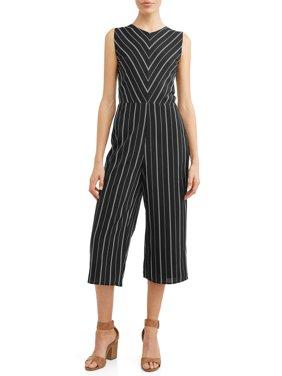 Women's Sleeveless Stripe Jumpsuit