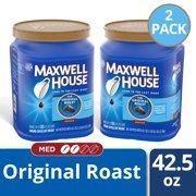 (2 Pack) Maxwell House Original Medium Roast Ground Coffee, 42.5 oz Canister