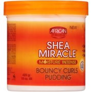 African Pride Shea Miracle Moisture Intense Bouncy Curls Pudding 15 oz. Jar