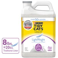 Tidy Cats LightWeight Glade Tough Odor Solutions for Multiple Cats Clean Blossoms Clumping Dust Free Cat Litter - 8.5 lb. Jug