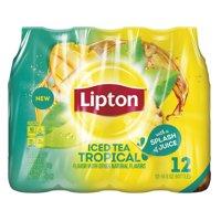 (2 Pack) Lipton Iced Tea, Tropical, 16.9 Fl Oz, 12 Count