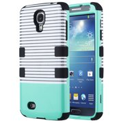 ULAK Galaxy S4 Case, Hybrid Shock Resistant Rubber Case Cover for Samsung Galaxy S4 IV