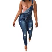 ccd8e6aa2d7 Jeans Overall for Women Casual Washed Denim Jumpsuit