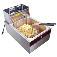 6L 2500W Professional Commercial Electric Countertop Deep Fryer Basket French Fry Restaurant Kitchen