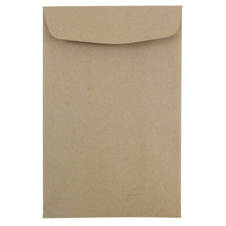 JAM PAPER 6 x 9 Open End Catalog Premium Envelopes, Brown Kraft Paper Bag, Bulk