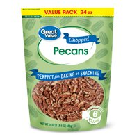 Great Value Chopped Pecans, Value Pack, 24 oz