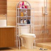 Costway 3 Shelf Over The Toilet Bathroom Space Saver Towel Storage Rack Organizer White