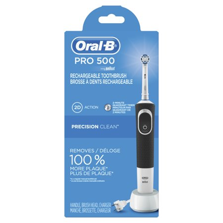 Oral-B Pro 500 Precision Clean Electric Rechargeable Toothbrush, powered by (Oral B Professional Healthy Clean Precision 1000 Rechargeable)
