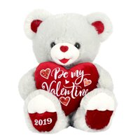 "Way To Celebrate 20"" Sweetheart Teddy 2019- Grey"