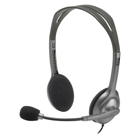 Logitech H111 Binaural Over-the-Head, Stereo Headset, Black/Silver (Ipaq Stereo Headset)