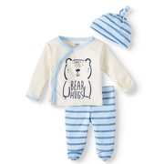 fb80ff8a6 Gerber Organic Cotton Take Me Home Outfit Set, 3pc (Baby Boys)