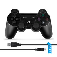 ABLEGRID Wireless Bluetooth Game Controller for Sony PS3 Black
