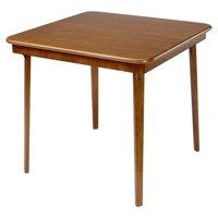Hardwood Classic Straight Edge Folding Card table - Fruitwood finish