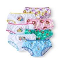 Disney Princess Girls Underwear, 7 Pack