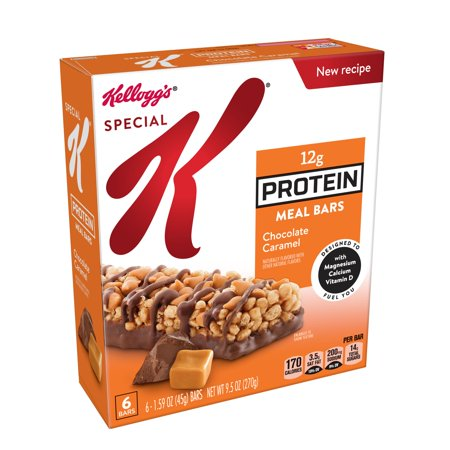 Kellogg's Special K Protein Meal Bar Chocolate Caramel 9.5 oz 6 Ct