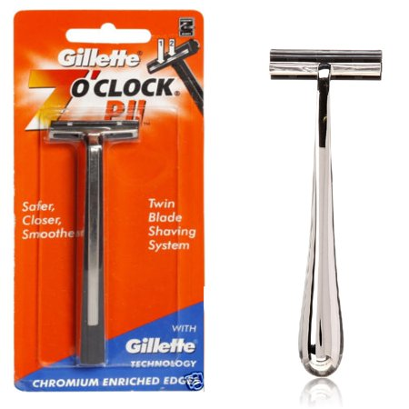 Gillette 7 O'Clock PII Trac II Razor + Trac II Chrome Handle Chrome Trim Door Handles Razor