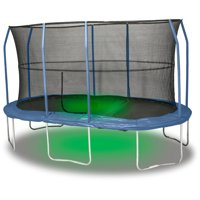 JumpKing Oval 15 x 17 Foot Trampoline, with Sound and Light, Blue