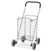Whitmor Rolling Utility Cart Silver / Black