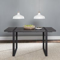 "Manor Park 60"" Industrial Metal & Wood Dining Table - Charcoal"