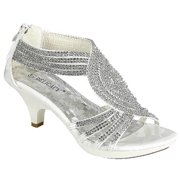 b720e8f33e5 Angel-37 Women Party Evening Dress Bridal Wedding Rhinestone Platform  Kitten Heel Sandal Shoes White
