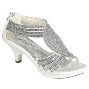281fa0819a51 Angel-37 Women Party Evening Dress Bridal Wedding Rhinestone Platform  Kitten Heel Sandal Shoes White