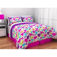 Latitude Bright Hearts Bed in a Bag Bedding Set