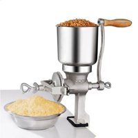 Grain Grinder, VGEBY Manual Coffee Bean Grinder Tool Spice and Nut Grinder Hand Peppercorn Mill Grinder for Wheat, Coffee, Spice, Pepper, Nut, Home Kitchen Tool