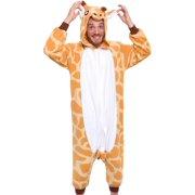 SILVER LILLY Unisex Adult Plush Animal Cosplay Costume Pajamas (Giraffe)