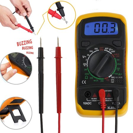 Pocket Multimeter (Pocket LCD Display Multimeter 1999 counts Auto Ranging Volt Meter Manual and Auto Ranging; Measures Voltage Tester, Current, Resistance, Continuit Frequency; Tests)