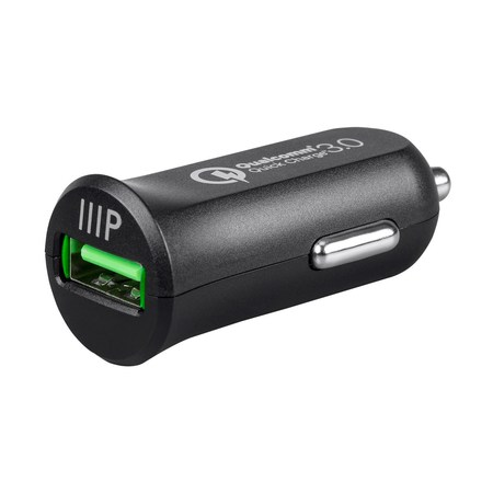 Monoprice USB Smart Car Charger With Qualcomm Quick Charge 3.0 Technology - Obsidian