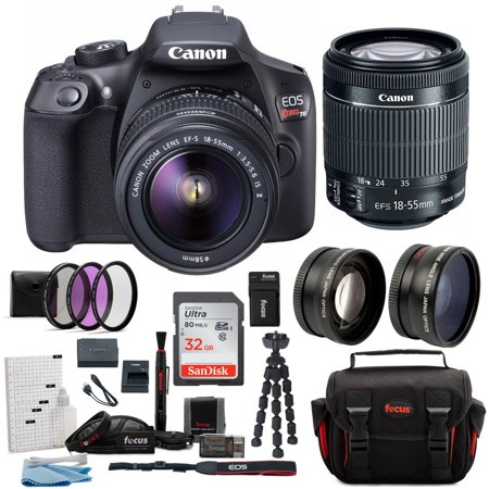 canon t6 eos rebel dslr camera with ef-s 18-55mm is ii lens deluxe (Best Price On Canon Eos Rebel T3i)