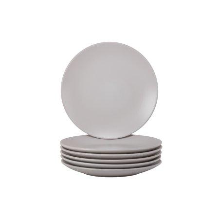 Matte Place Set - 10 Strawberry Street Wazee Matte Dinner Plate, Set of 6