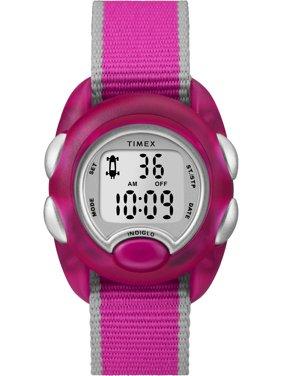 Timex Kids Time Machines Digital Pink Watch, Nylon Strap