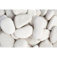 "Margo 30 lb Large Flat Caribbean Beach Pebbles, 3"" to 5"""