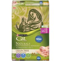 Cat Chow Naturals Grain-Free Plus Vitamins & Minerals With Real Chicken Adult Dry Cat Food (Various Sizes)