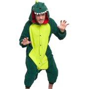 SILVER LILLY Unisex Adult Plush Animal Cosplay Costume Pajamas (Dinosaur)