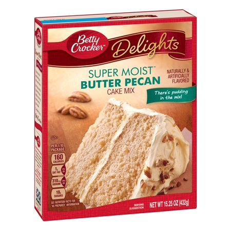 (2 pack) Betty Crocker Super Moist Butter Pecan Cake Mix, 15.25