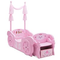Disney Princess Plastic Carriage Convertible Toddler-to-Twin Bed by Delta Children