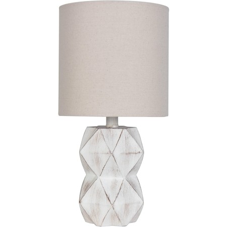 Better Homes & Gardens White Wash Faceted Faux Wood Table (Lamps Plus Rectangular Table Lamp)