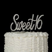 Sweet 16 Cake Topper Crystal Rhinestone 16th Birthday Decoration Party Supplies