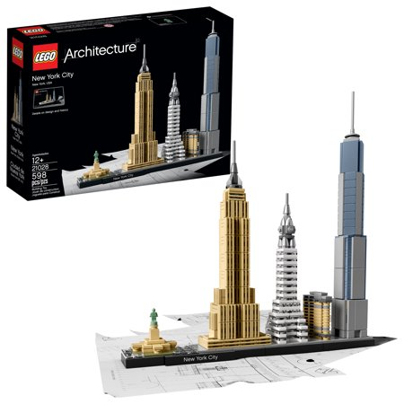 LEGO Architecture New York City 21028 Model Kit for Adults and Kids (598 pcs) - Architecture Model Kits