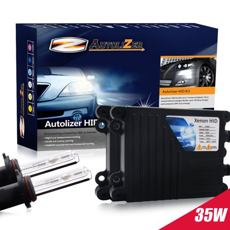 Hid Conversion Kit Diamond - Autolizer 35W HID Xenon Conversion Kit with Premium Slim Ballast and Bulb - H1 3000K, 3K - Golden Yellow
