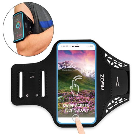 Armband Phone Case Sports Gym Running Workout Exercise Water Resistant Multi-Functional Card Holder Key Bag for iPhone XS Max, XR, 8 Plus, 7 Plus, 6 Plus](Swastika Armband)