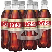 (4 Pack) Diet Coke Caffeine-Free Soda, 16.9 Fl Oz, 6 Count