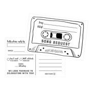 50 Song Request Cassette Tape Generic RSVP Cards Postcards No Envelopes Needed Response