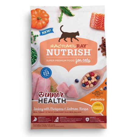 Rachael Ray Nutrish Inner Health Natural Dry Cat Food Turkey With