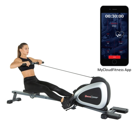 FITNESS REALITY 1000 PLUS Bluetooth Magnetic Rowing Machine Rower with Extended Optional Full Body Exercises and Free