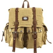 13d10fc6fc94 Canyon Outback Urban Edge Canvas Twill and Leather Flapover Backpack