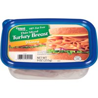 Great Value Thin Sliced Honey Turkey Breast, 9 oz